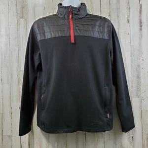 Eddie Bauer Mens Pullover Shirt M Black Red